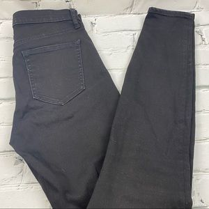 Gap 1969 skinny high rise black jeans